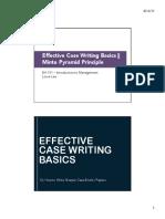LN BA101 1 Effective Case Writing Basics + Minto Pyramid Principle S12017