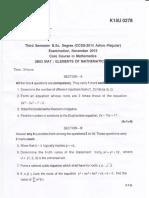 Bsc Maths III Nov2015 Elements of Mathematics