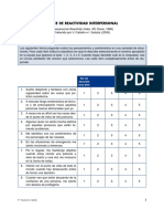 4.1.2 Indice de Reactividad Interpersonal