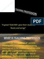 Profession Called Teaching