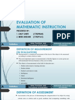 Evaluation of Mathematic Instruction (b.inggris)