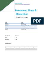 2p - Forces Movement Shape and Momentum - Qp Edexcel - Igcse - Physics