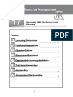Chapter 17 Measuring HRM Effectiveness and Efficiency