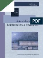 Actualidad de La Hermeneutica