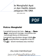 Metode Menghafal Ayat Al-Quran Dan Hadits Dalam Pembelajaran PAI