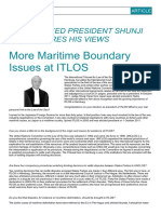 More Maritime Boundary Issues at ITLOS