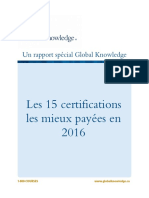 Wp Les 15 Certifications Les Mieux Payées en 2016