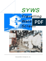 Travalling water screen