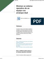 Eliminar Un Sistema Operativo Del Sistema de Arranque Dual