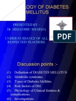 Physiology of Diabetes