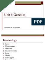 Bb Unit5GeneticsSpring2011