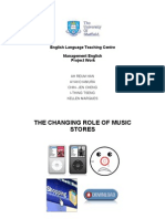 The Changing in Role of Music Stores