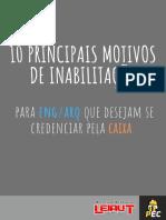 10 Principais Motivos de Inabilitação - Caixa