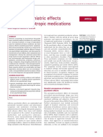 Adverse Psychiatric Effects of Nonpsychotropic Medications