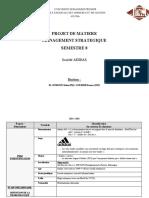 Projet de matière management strategique d'ADIDAS