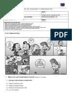 Prueba de Lenguaje y Comunicación p1 u3