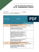 Lista de Verficacion ECF 05 Promec Codelco Ventanas