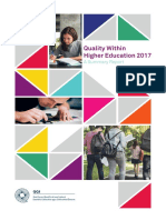 Quality Within Higher Education 2017 Summary Report