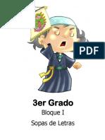 3er Grado - Bloque 1 - Sopa de Letras