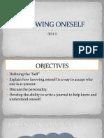 (Week 1) Knowing Oneself
