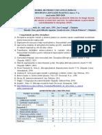Proiect de lunga durata la disciplina Educatie Plastica Cl. a V-a pentru anul 2019-2020