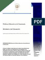 Políticas Educativas MINEDUC