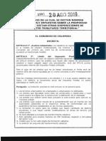 Ley 1995 Del 20 de Agosto de 2019