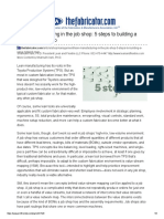 Lean Manufacturing in the Job Shop_ 5 Steps to Building a Value Network Map