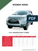 Ficha Tecnica Montero Sport 2.4 Diesel