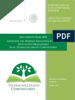 Documento Base de Telebachillerato Comunitario 2018