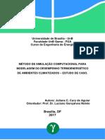 Método de Simulação Computacional Para Modelagem Do Desempenho Termo-Energético de Ambientes Climatizados