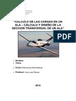 calculo cargas  ala Cessna 510.docx