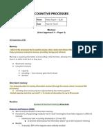 Psychology Notes— Cognitive Psychology
