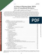 Classification of Cannabinoid Receptors
