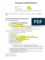 Steps for Price Bid and EPublsih