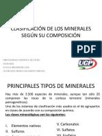 Clasificación de Los Minerales Según Su Composición