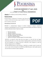 PIET MATLAB Workshop Report2018