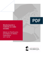 Master Universidad Nebrija Monitorizacion y Medicion en Rrss