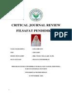 Critical Journal Review Filsafat Pendidikan