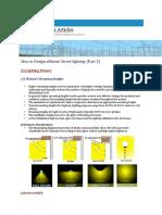 How to Design Efficient Street Lighting-(Part-3)