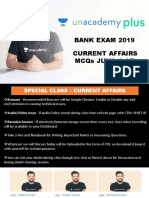 Special Class - VI Current Affairs MCQs From July (1-15)