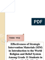 Thesis Ppt Presentation