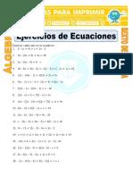 Ecuaciones Ejercicios Para Sexto de Primaria