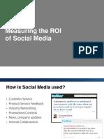 Measuring ROI for Social Media