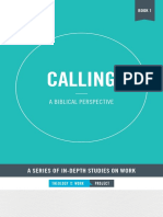 Calling a Biblical Perspective by the Theology of Work Project 2017