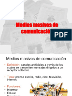 Medios Masivos de Comunicación Primero Medio