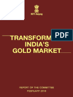 Niti Aayog - Final Report - Transforming Indias Gold Market 2018 March