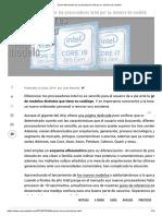 Cómo Diferenciar Los Procesadores Intel Por Su Número de Modelo