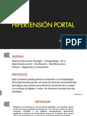 Síntomas portal hipertensión