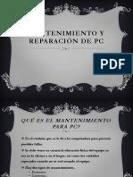 Mantenimiento y Reparacicn de Pc